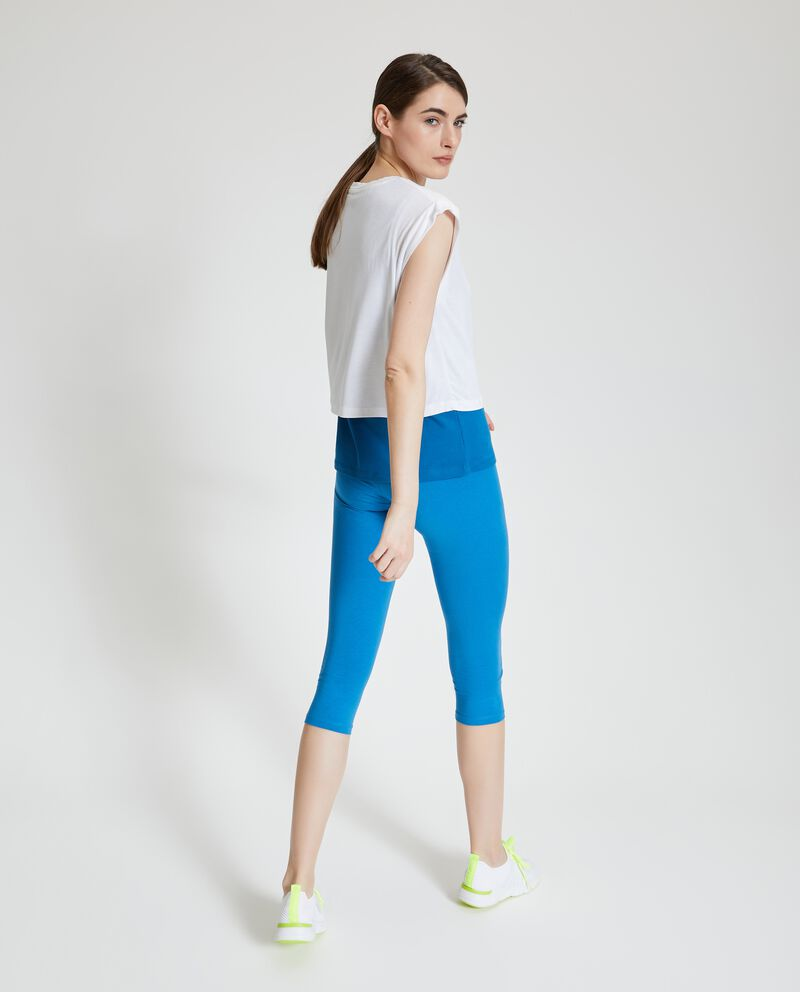 Leggings Fitness a tre quarti con stampa