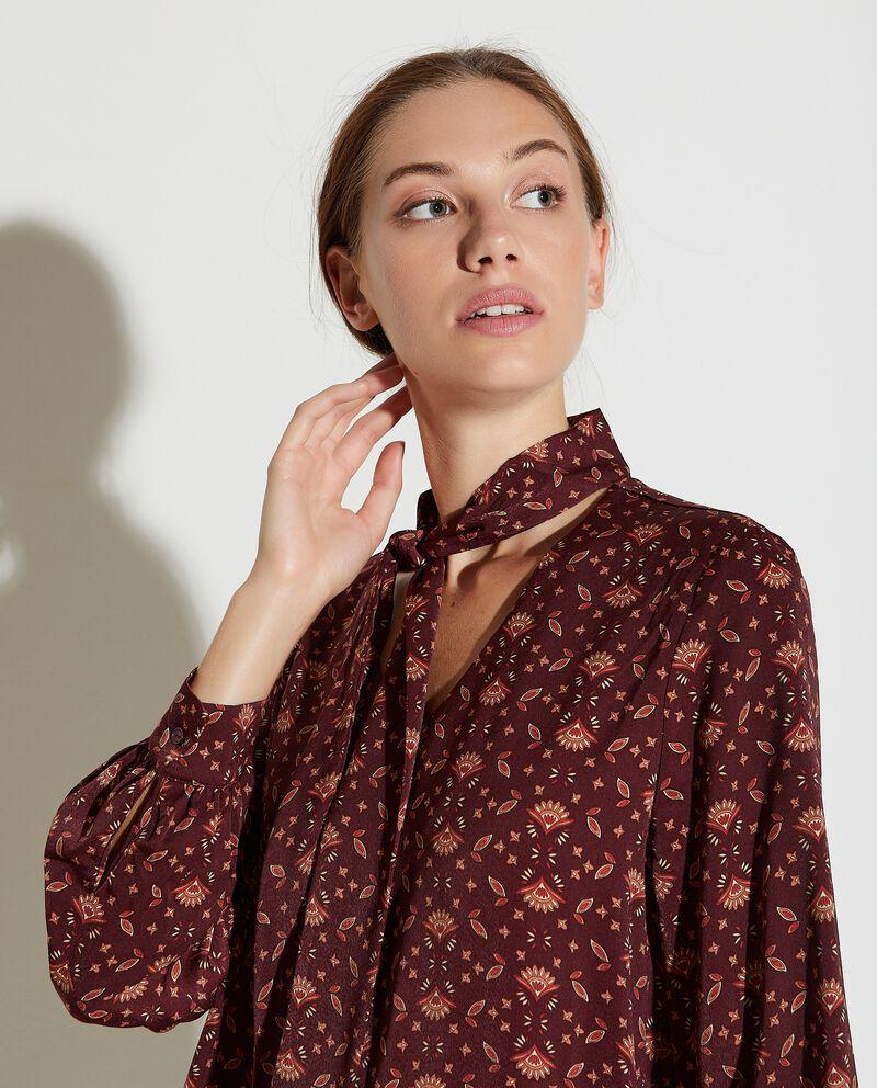 Blusa con colletto a fiocco donna