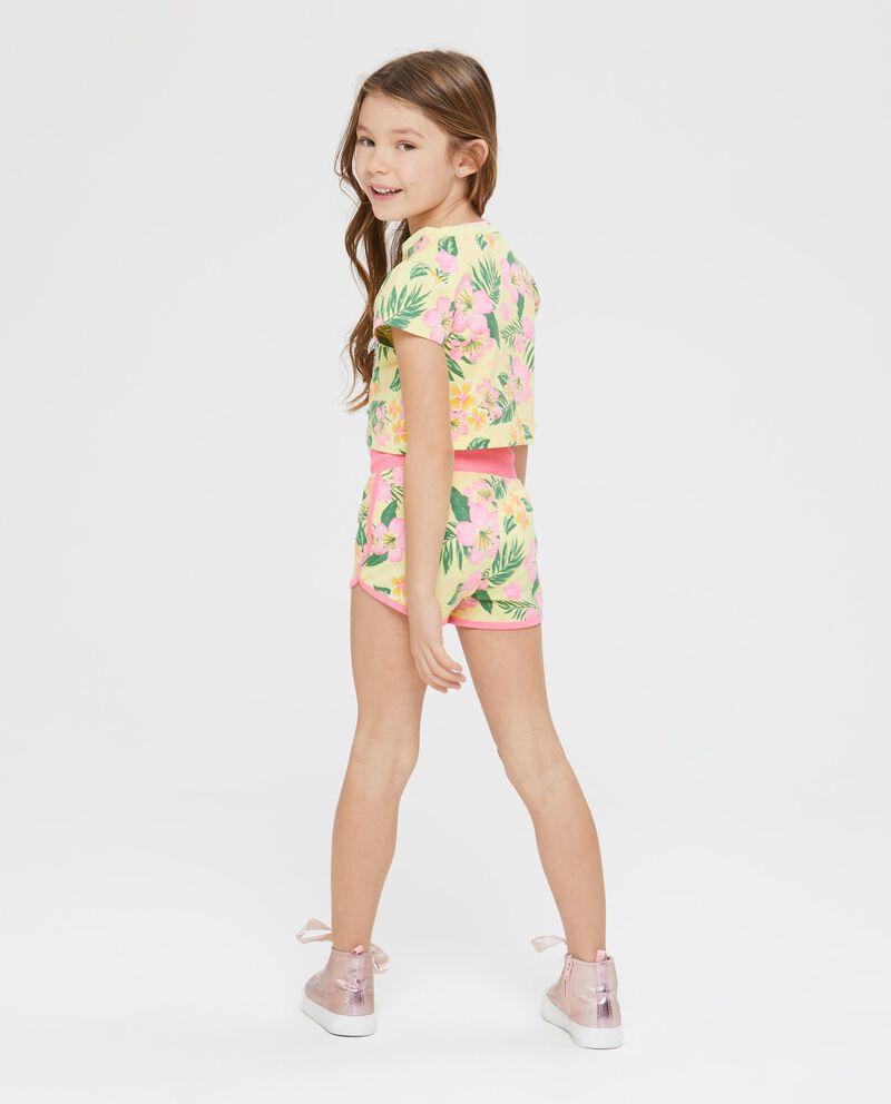T-shirt maniche corte floreale