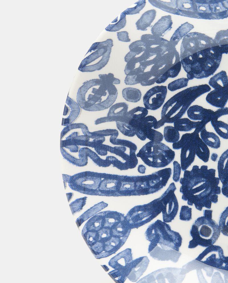Piatto fondo con decorazioni in ceramica single tile 1