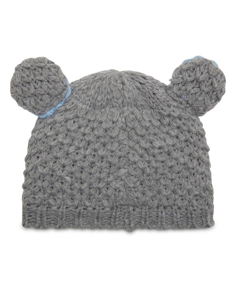 Cappello a cuffia con orecchie tricot