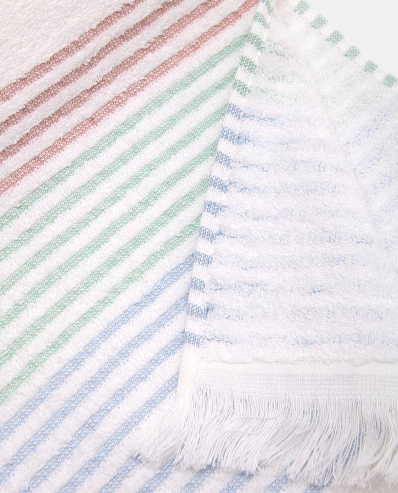 Asciugamano con bordo con motivo a righe