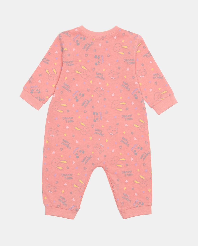 Tutina pigiama cotone dettagli costina