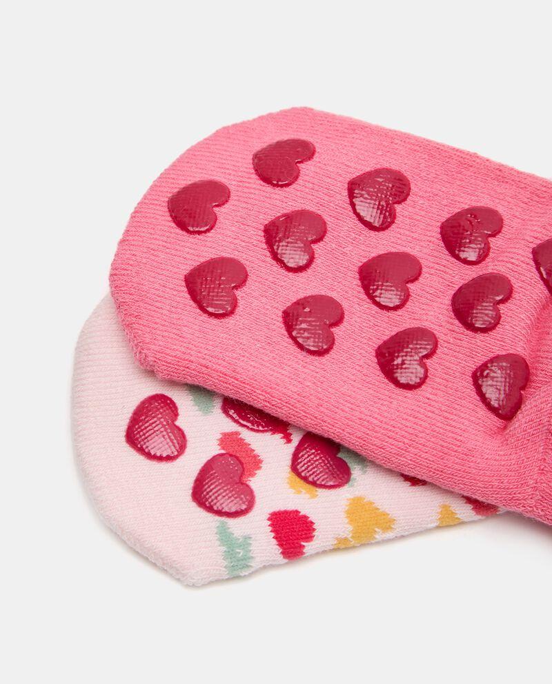 Bipack di 2 paia di calzini in cotone biologico stretch neonata single tile 1