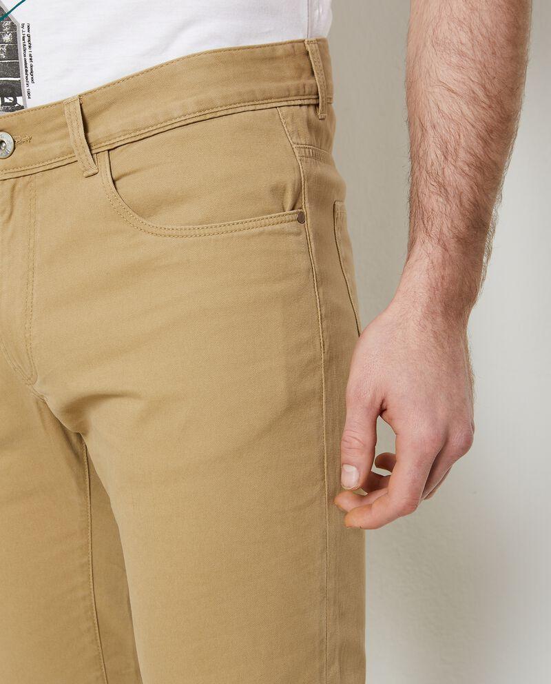 Pantaloni tinta unita in puro cotone uomo