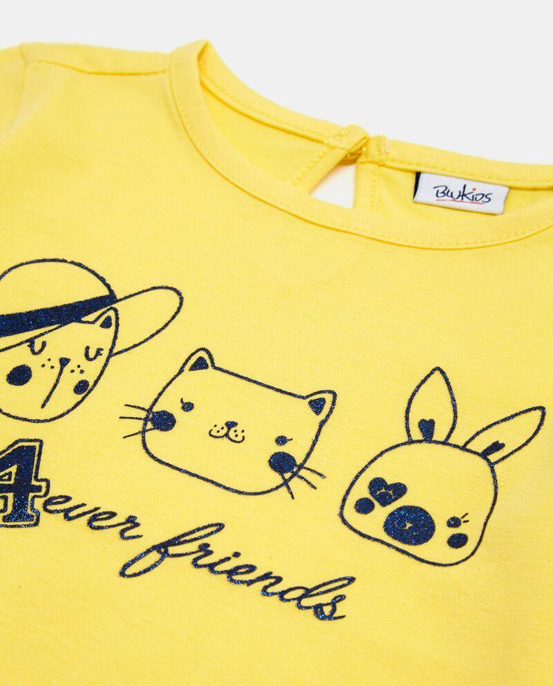 T-shirt in puro cotone con disegno neonata