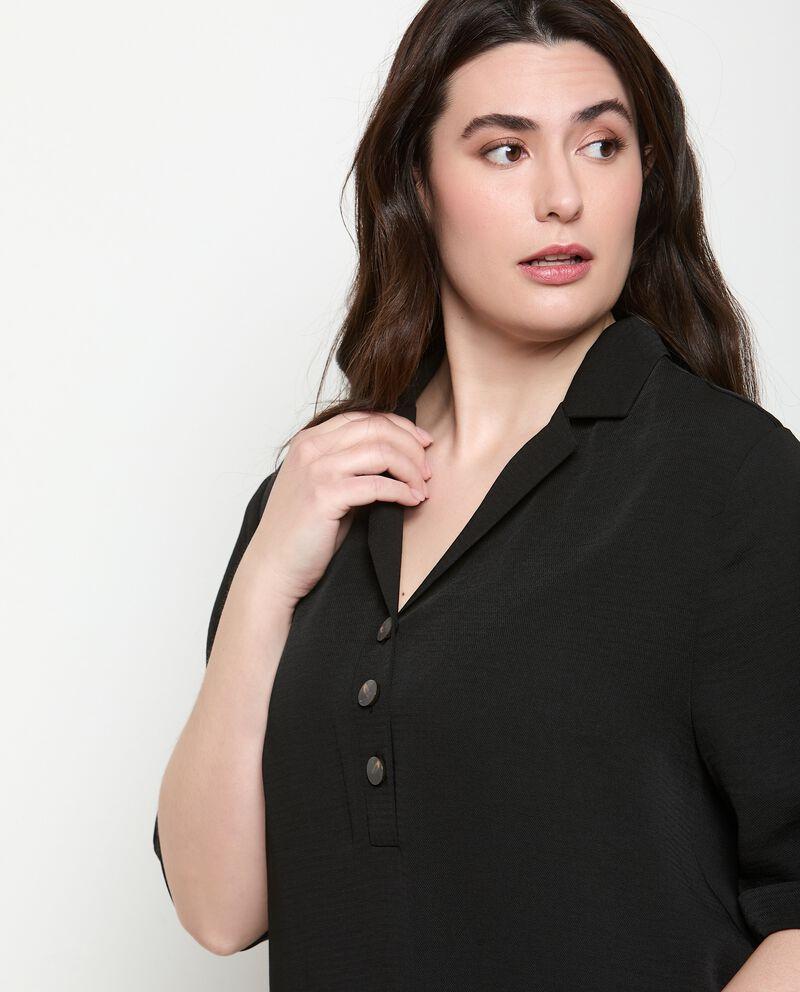 Camicia tinta unita Curvy