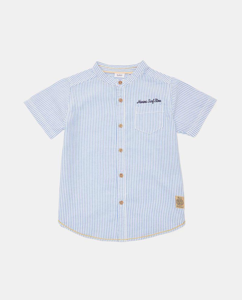 Camicia a maniche corte in puro cotone neonato