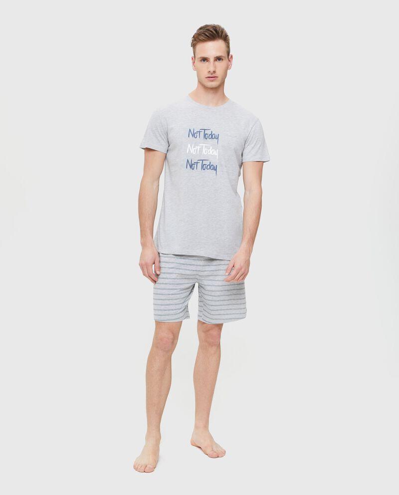 Pigiama t-shirt in cotone uomo