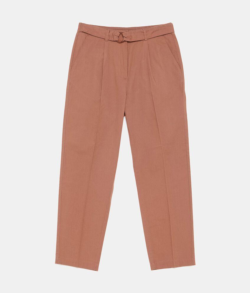 Pantaloni comfort in puro cotone donna