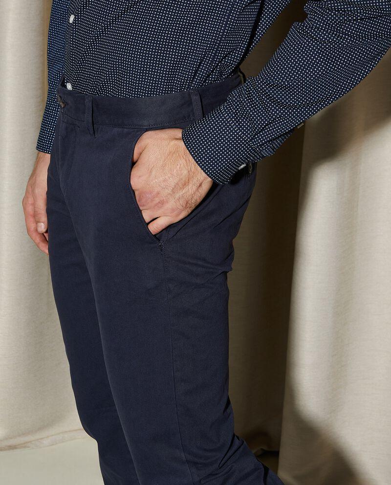 Pantaloni chino di puro cotone regular fit uomo