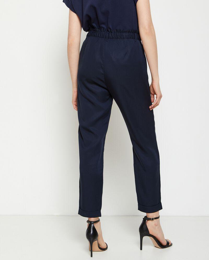 Pantaloni vita alta elasticizzata donna single tile 1
