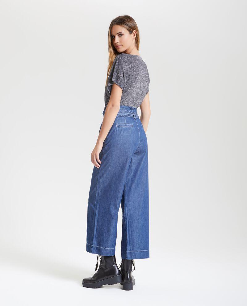 Pantaloni denim ampi donna