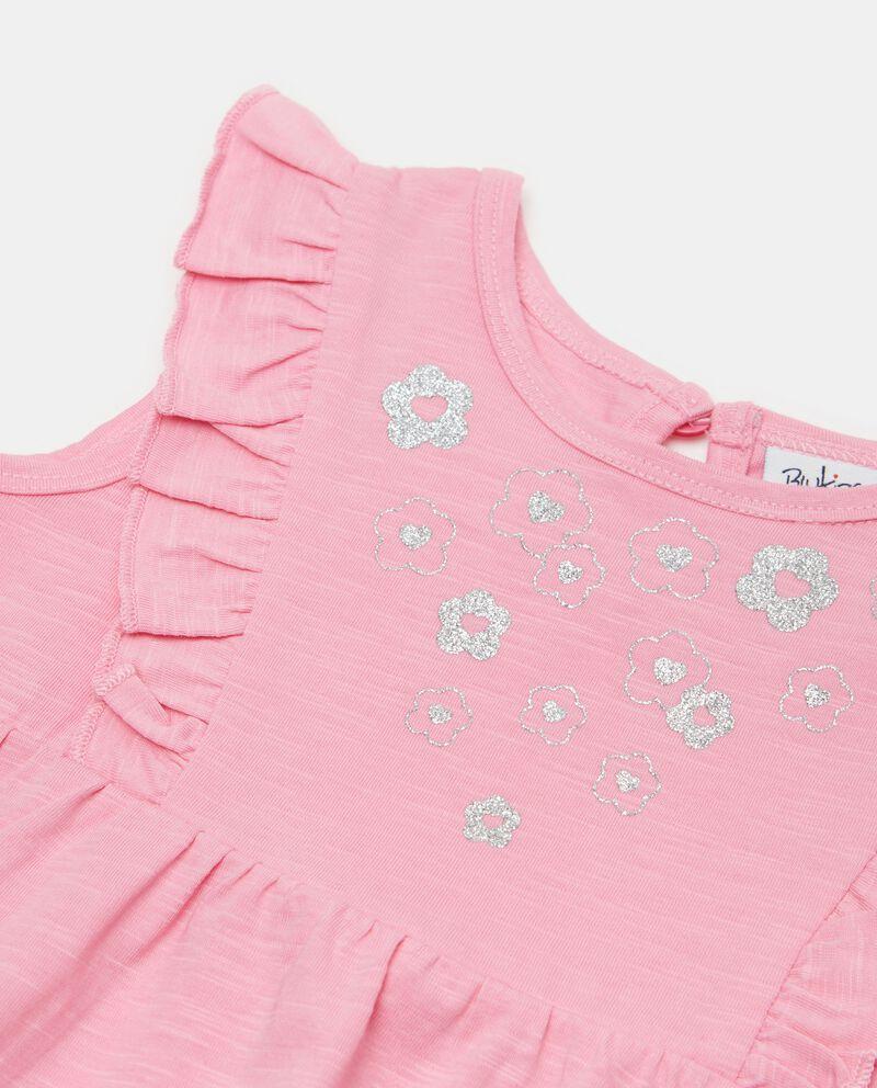 Vestito smanicato in jersey slub di cotone organico neonata