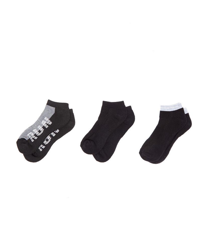 Set tre calze corte sportive stretch