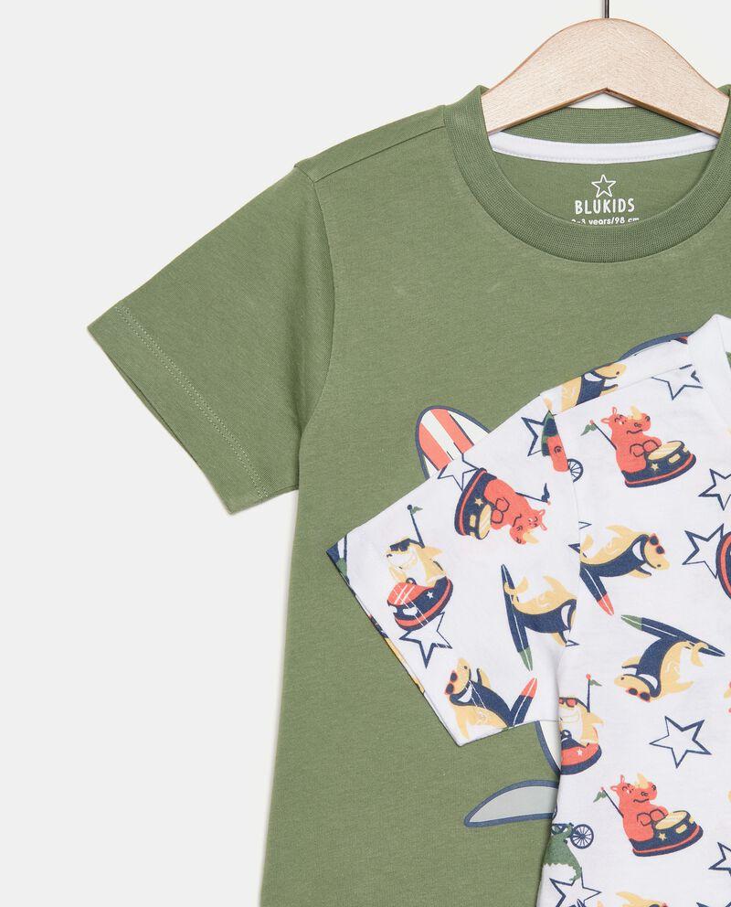 Bipack 2 pigiami di cotone organico bambino single tile 1