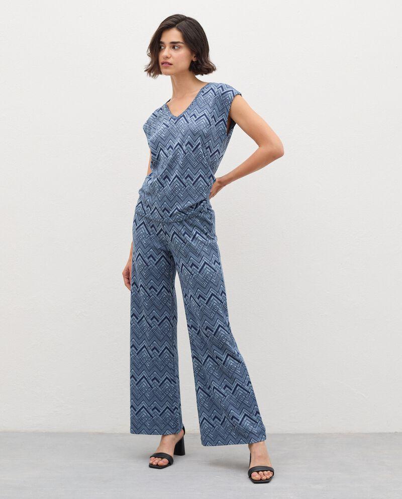 Pantaloni a palazzo con filo lurex donna cover