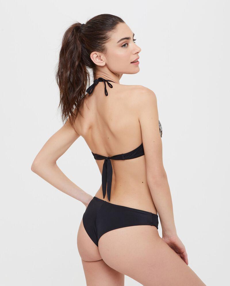 Top Bikini con paillettes applicate