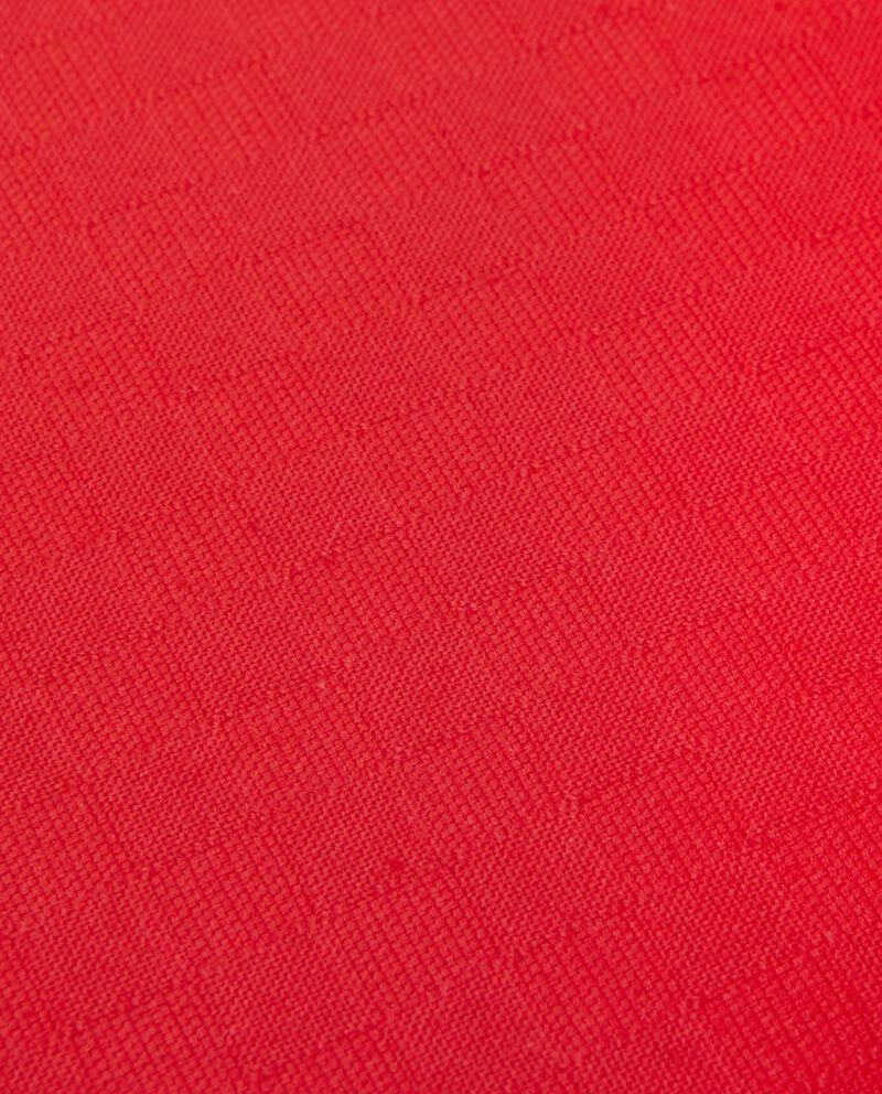 Copriletto rosso una piazza tinta unita