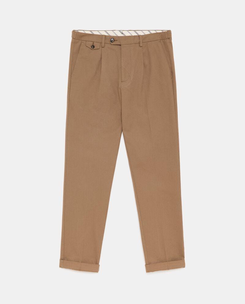 Pantaloni classici in cotone stretch uomo cover
