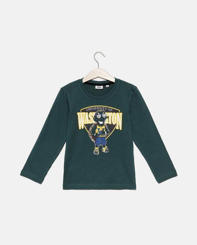 T-shirt di puro cotone biologico stampata bambino cover