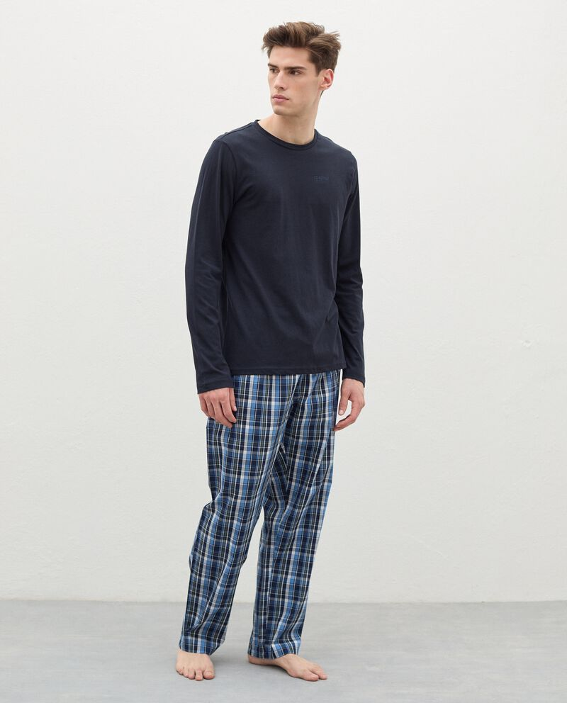 Pantaloni del pigiama con motivo a quadri in cotone uomo cover