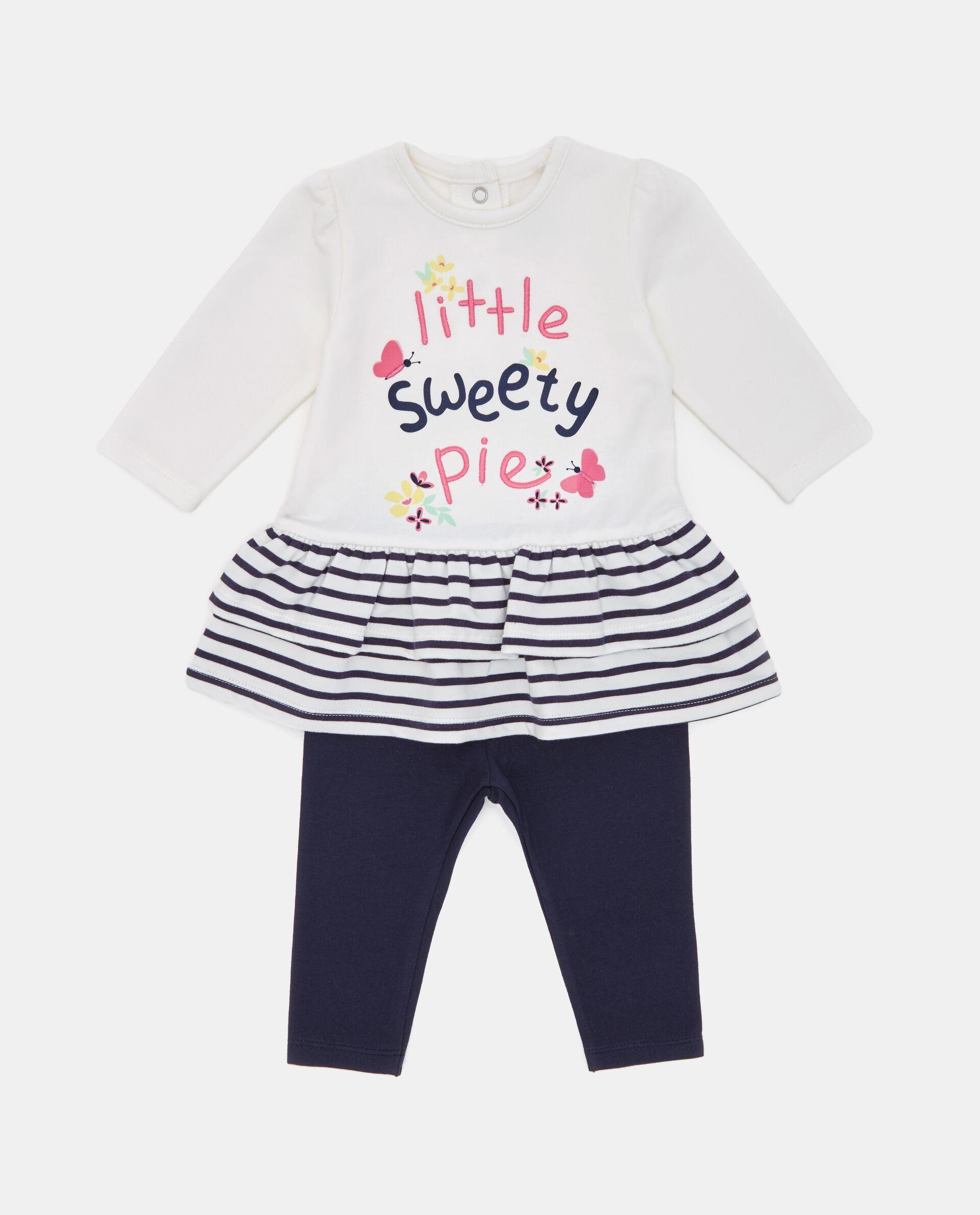 Set con maglia e leggings neonata