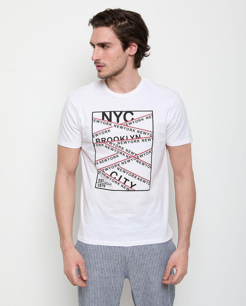 T-shirt di puro cotone stampata uomo