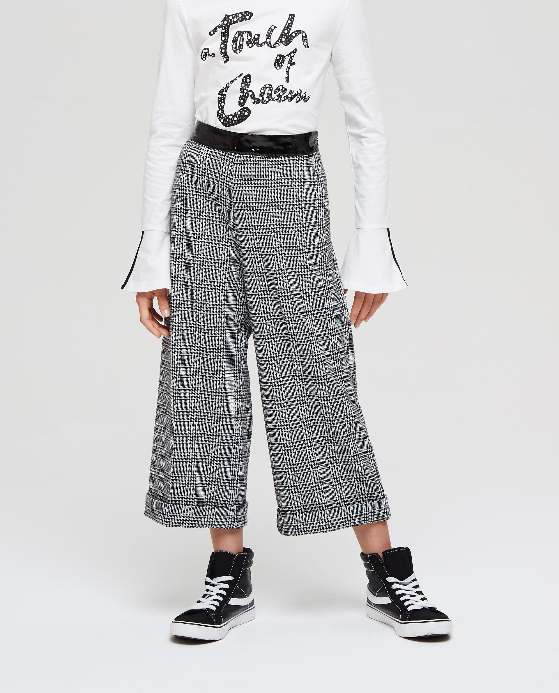 Pantaloni stretch vita effetto lucido