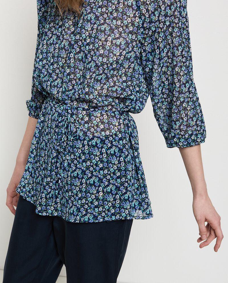 Camicia floreale con coulisse donna single tile 2