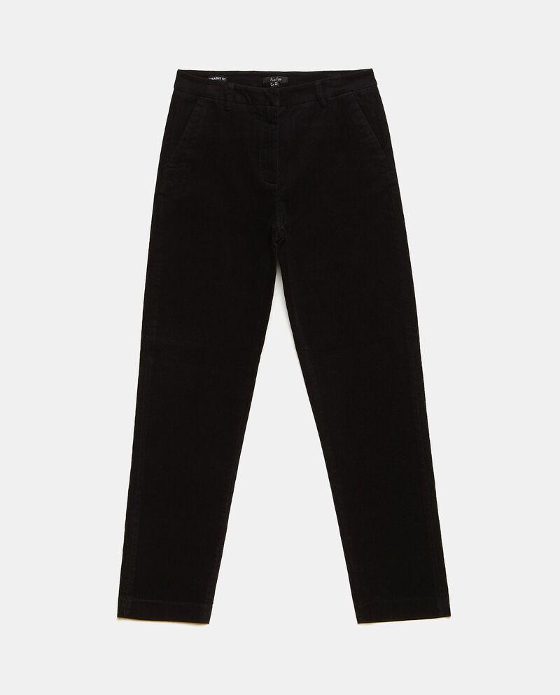 Pantaloni a costine in tinta unita donna