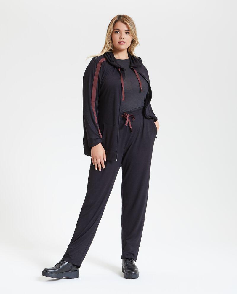 Pantaloni fitness tinta unita taglie comode donna