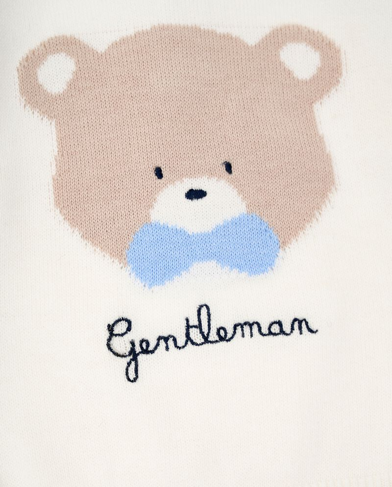Girocollo con ricamo tricot neonato single tile 1
