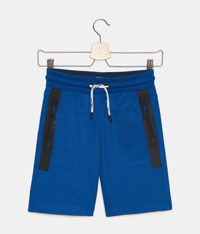 Shorts in felpa leggera di cotone organico ragazzo double 1