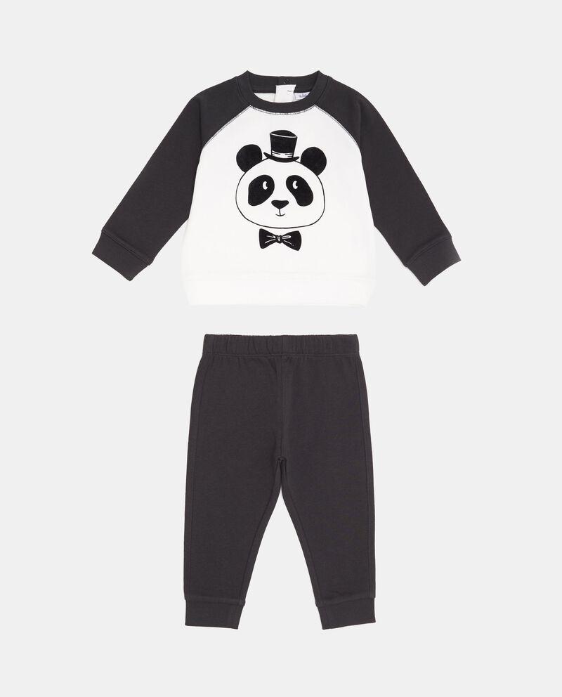 Tuta in puro cotone stampa panda