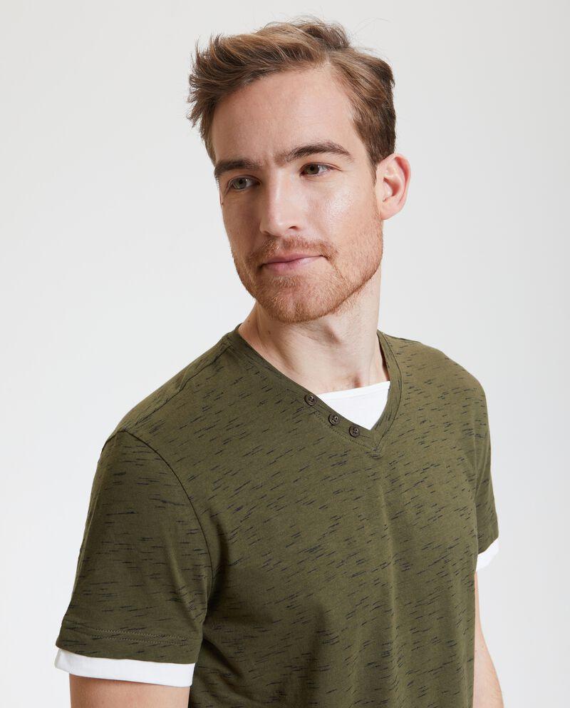 T-shirt mélange doppia uomo