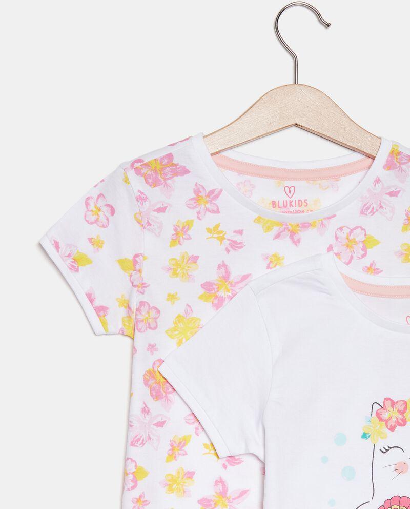 Bipack con 2 pigiami di cotone organico bambina