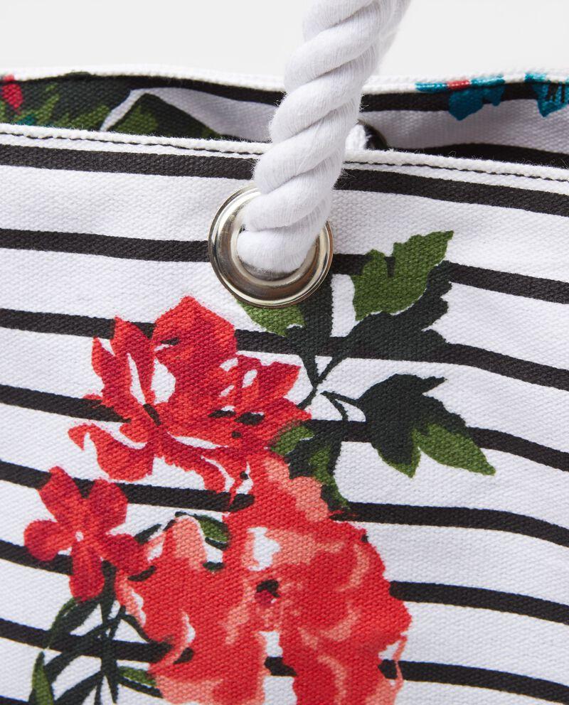 Borsa da spiaggia con fantasia floreale donna