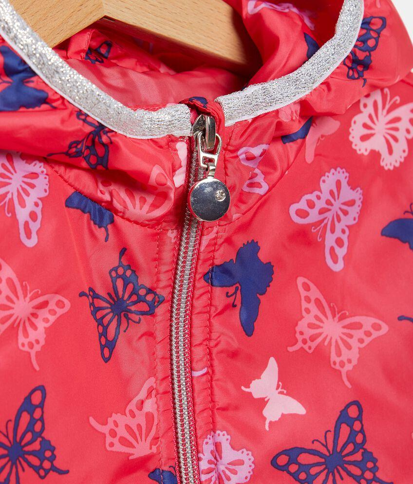 Giacca impermeabile con fantasia farfalle bambina