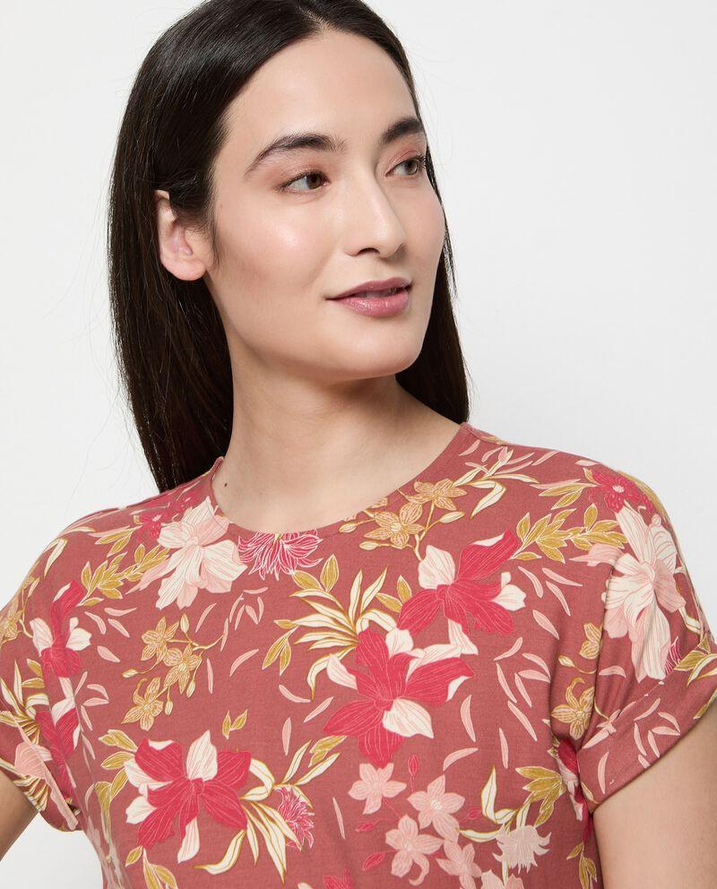 Vestito in viscosa stretch stampato donna single tile 2