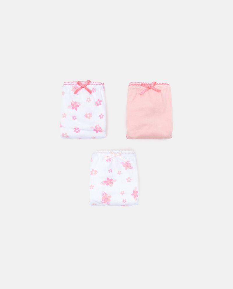 Set con 3 slip in cotone organico jersey bambina