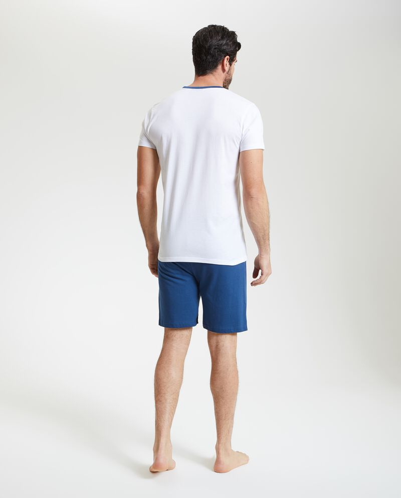 T-shirt pigiama con scollo a V uomo