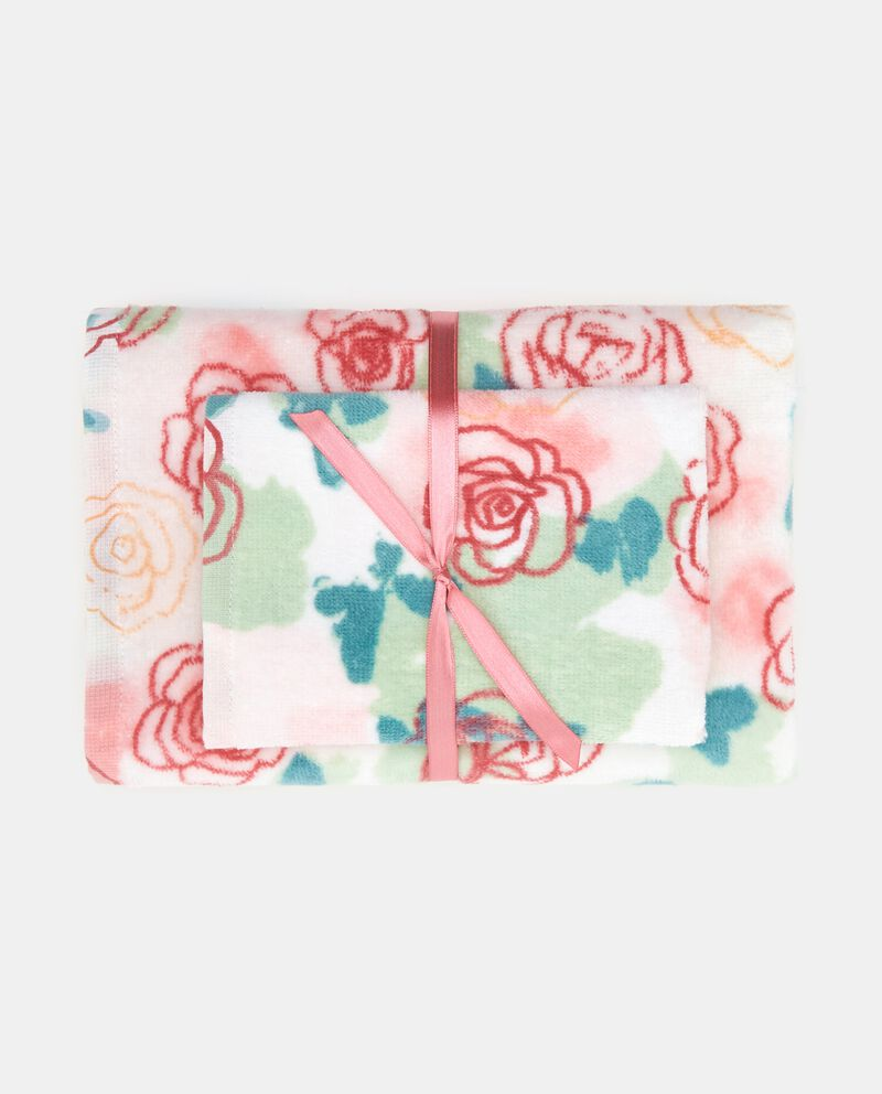 Set asciugamani con fantasia rose