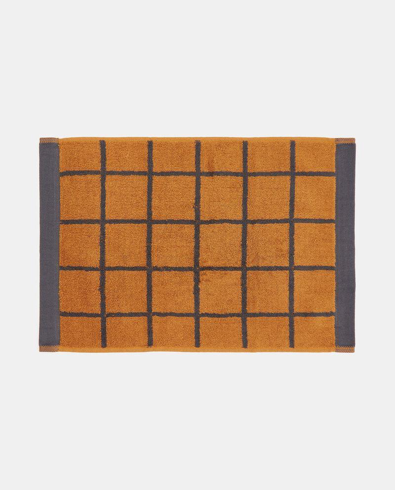 Asciugamano mani con decoro reticolato in puro cotone single tile 1