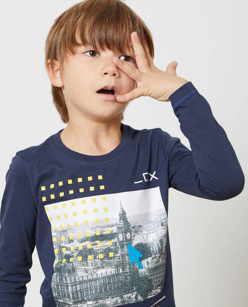 T-shirt tinta unita stampa Londra