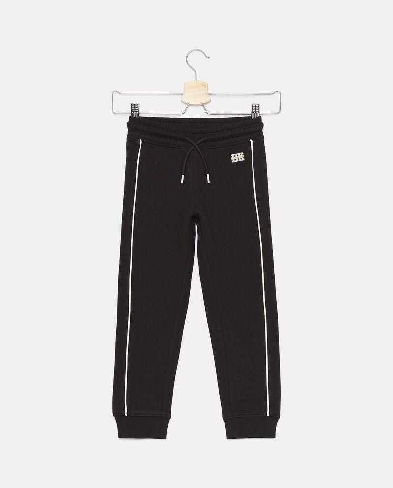 Pantaloni di cotone organico con bandine bambino cover
