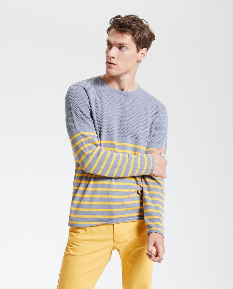 Maglione tricot con motivo a righe uomo