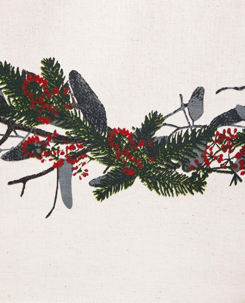 Tovaglia in cotone misto lino natalizia