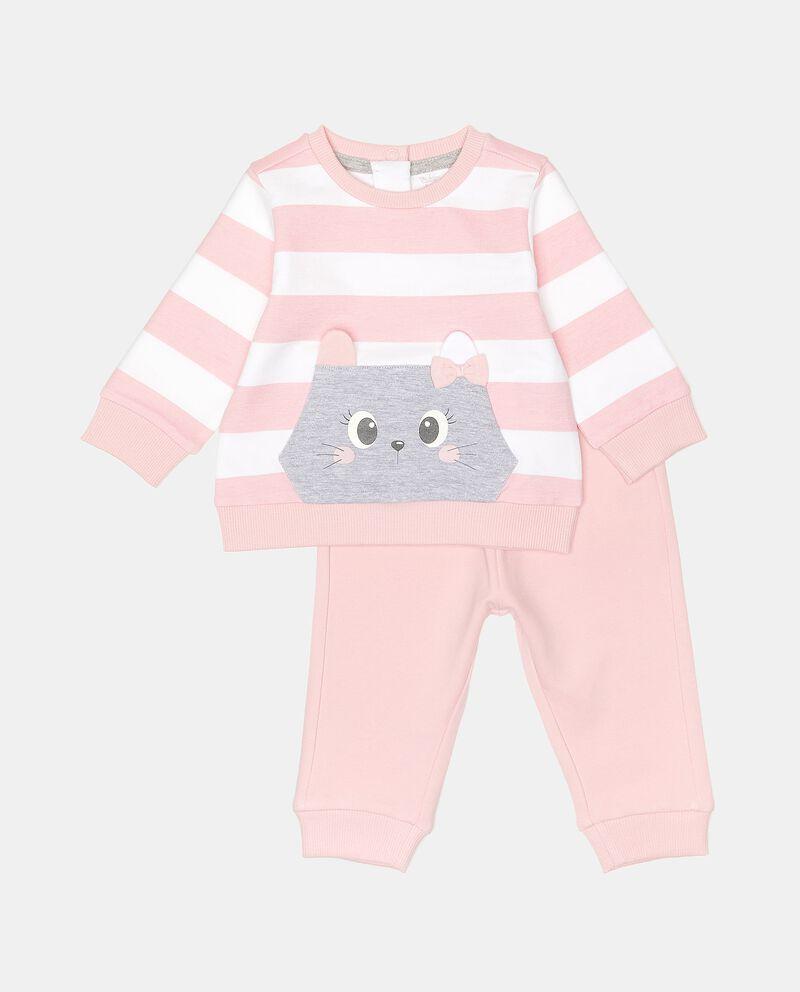 Completino in cotone elasticato neonata