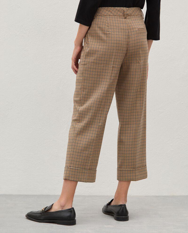 Pantaloni principe di galles ampi donna single tile 1